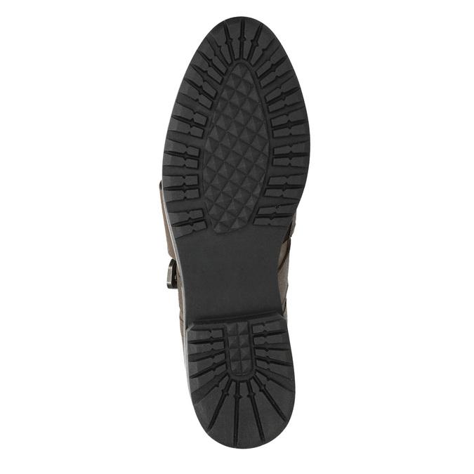 Dámské kožené polobotky bata, hnědá, 516-2612 - 17
