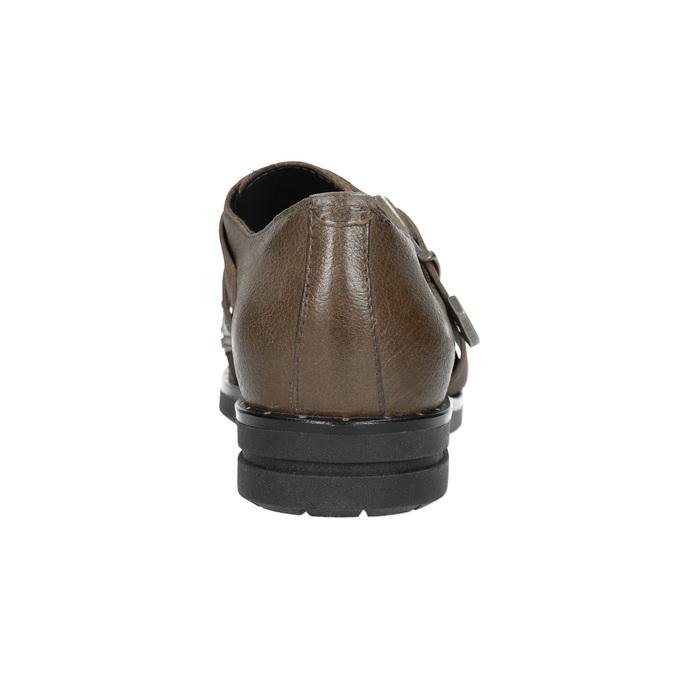Dámské kožené polobotky bata, hnědá, 516-2612 - 16