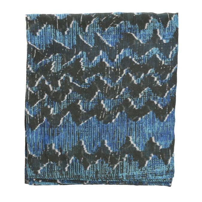 Dámský modrý šátek se vzorem bata, modrá, 909-9627 - 26