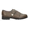 Dámské kožené polobotky bata, hnědá, 516-2612 - 26