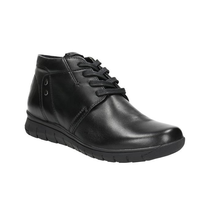 Kožená kotníčková obuv bata, černá, 524-6605 - 13