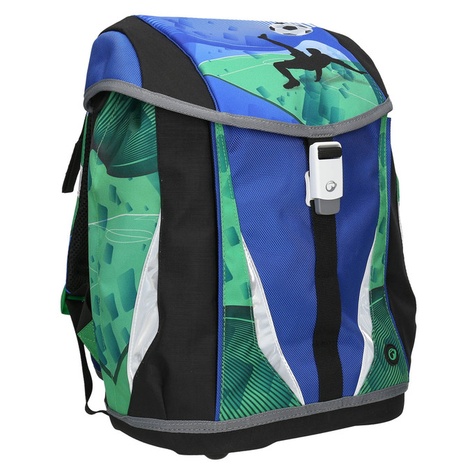 Školní aktovka chlapecká bagmaster, modrá, 969-9652 - 13