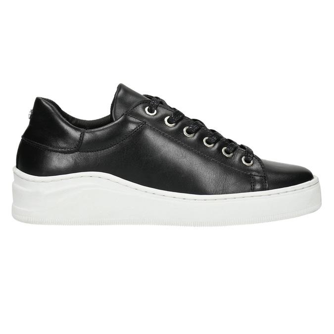Kožené tenisky s výraznou podešví bata, černá, 526-6641 - 15
