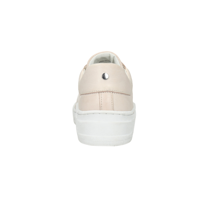 Dámské kožené tenisky bata, růžová, 526-5641 - 17