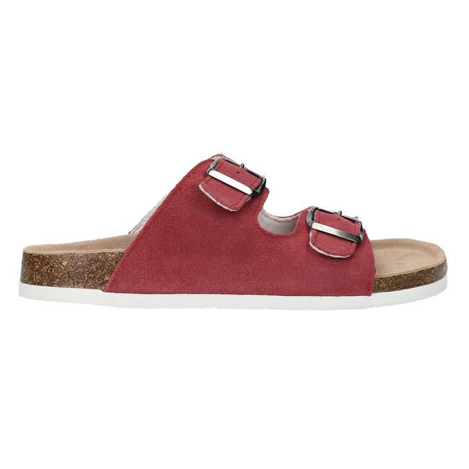Kožené dámské pantofle de-fonseca, červená, 573-4621 - 15