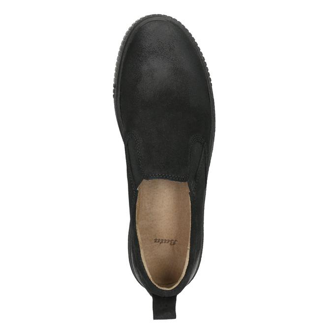 Kožená dámská Slip-on obuv bata, černá, 516-6613 - 26