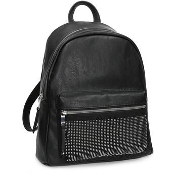 Černý dámský batoh s kamínky bata, černá, 961-6855 - 13