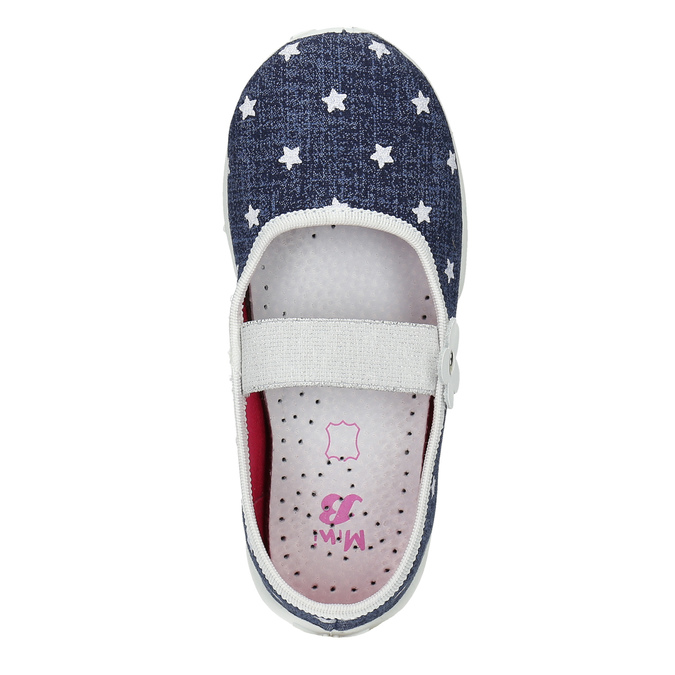 Domácí pantofle s hvězdičkami mini-b, modrá, 379-2215 - 19