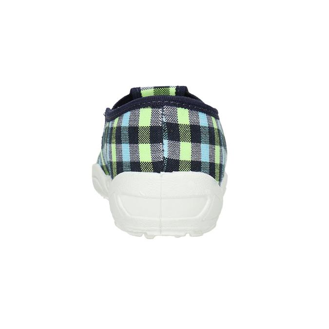Dětská domácí obuv mini-b, vícebarevné, modrá, 379-0213 - 17