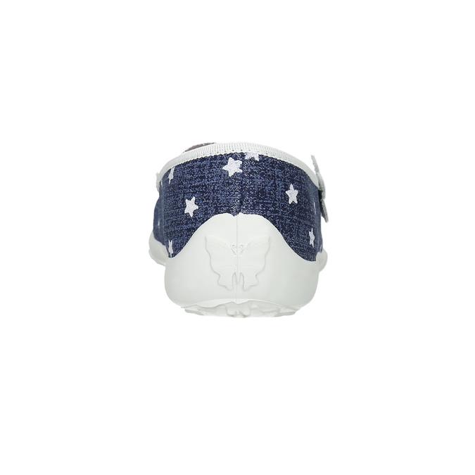 Domácí pantofle s hvězdičkami mini-b, modrá, 379-2215 - 17