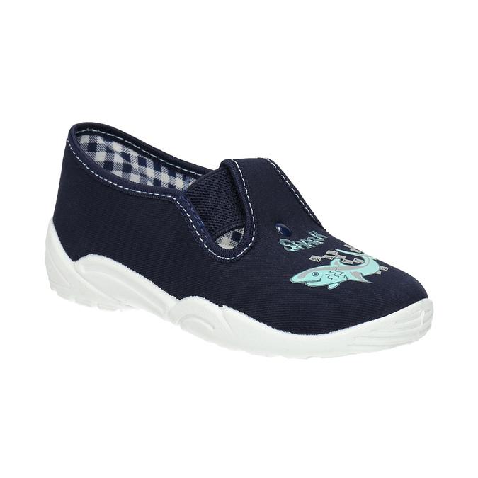 Dětské pantofle se žralokem mini-b, modrá, 379-9213 - 13