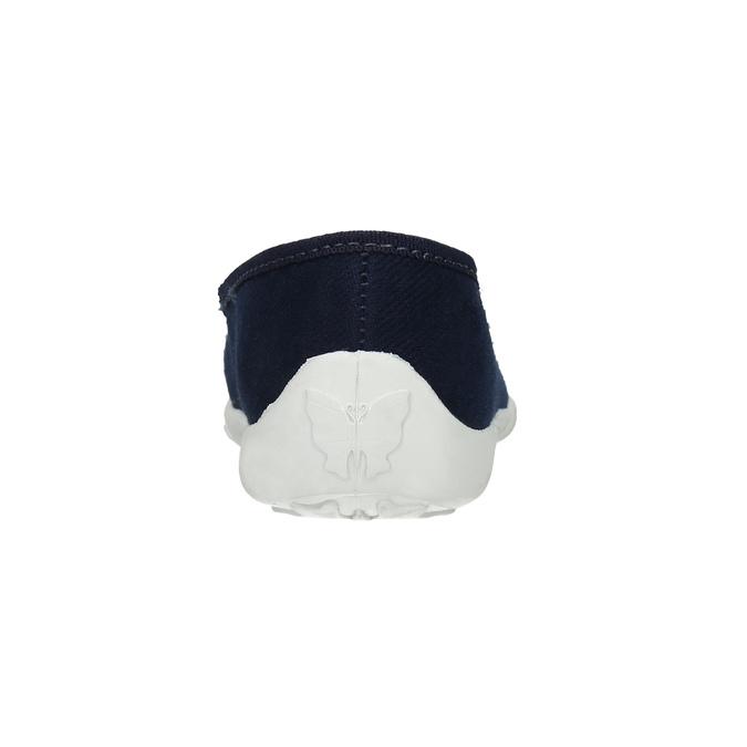 Domácí obuv s kytičkami mini-b, modrá, 379-9215 - 17