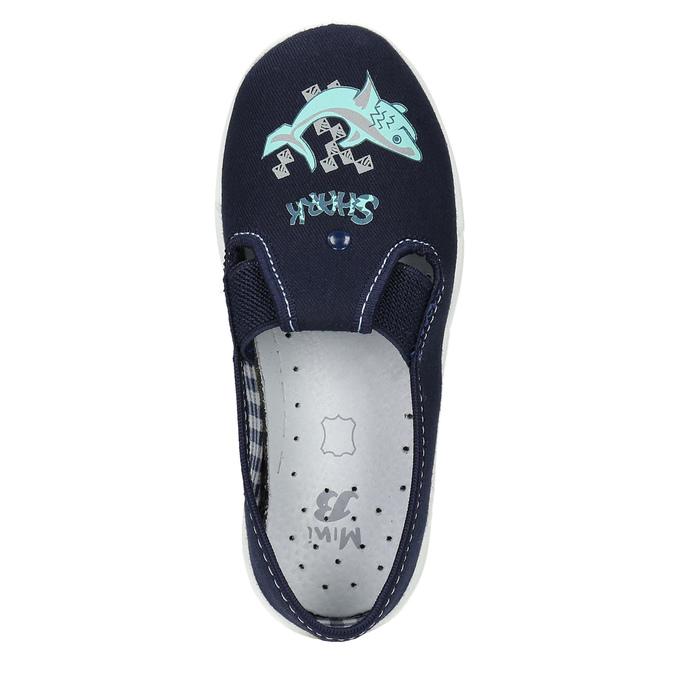 Dětské pantofle se žralokem mini-b, modrá, 379-9213 - 19