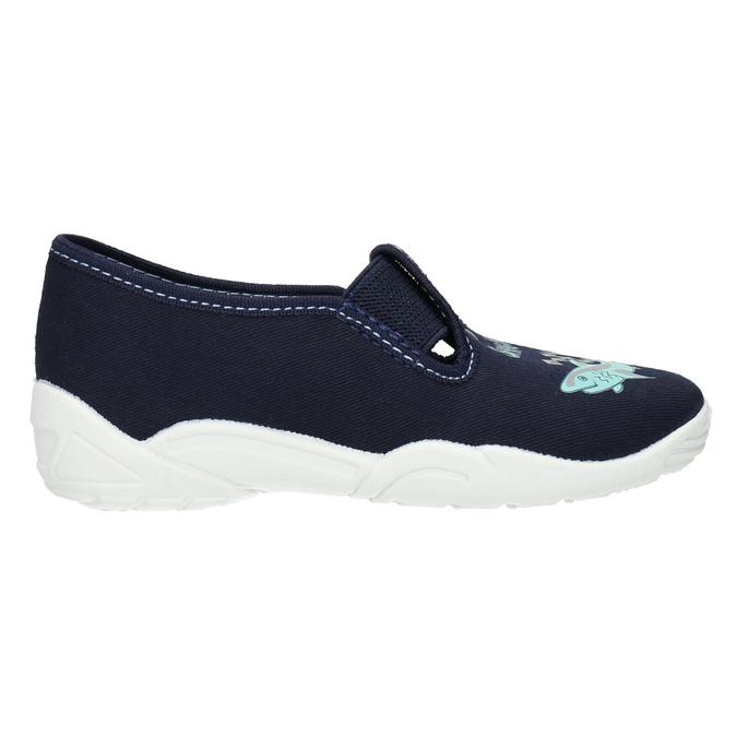 Dětské pantofle se žralokem mini-b, modrá, 379-9213 - 15