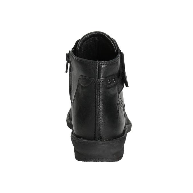 Kotníčková dámská obuv bata, černá, 596-6656 - 17