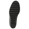 Kožená kotníčková obuv na klínku comfit, černá, 698-6600 - 19