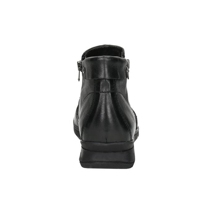 Kožená kotníčková obuv se zipy bata, černá, 594-6642 - 17