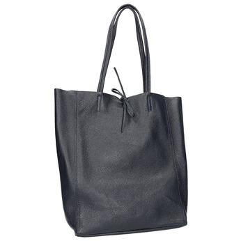 Kožená dámská Shopper kabelka bata, modrá, 964-9122 - 13