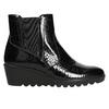 Kožená kotníčková obuv na klínku comfit, černá, 698-6600 - 15