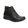 Kožená kotníčková obuv se zipy bata, černá, 594-6642 - 13