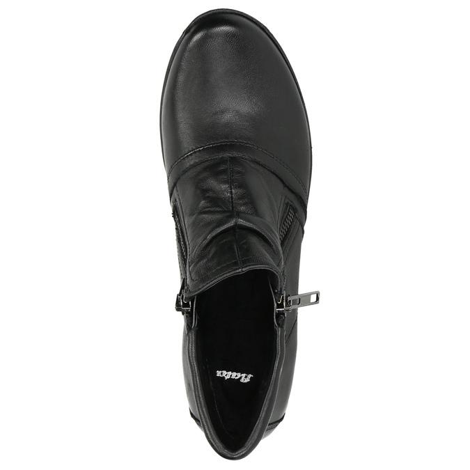Kožená kotníčková obuv se zipy bata, černá, 594-6642 - 26