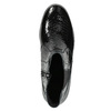 Kožená kotníčková obuv na klínku comfit, černá, 698-6600 - 26