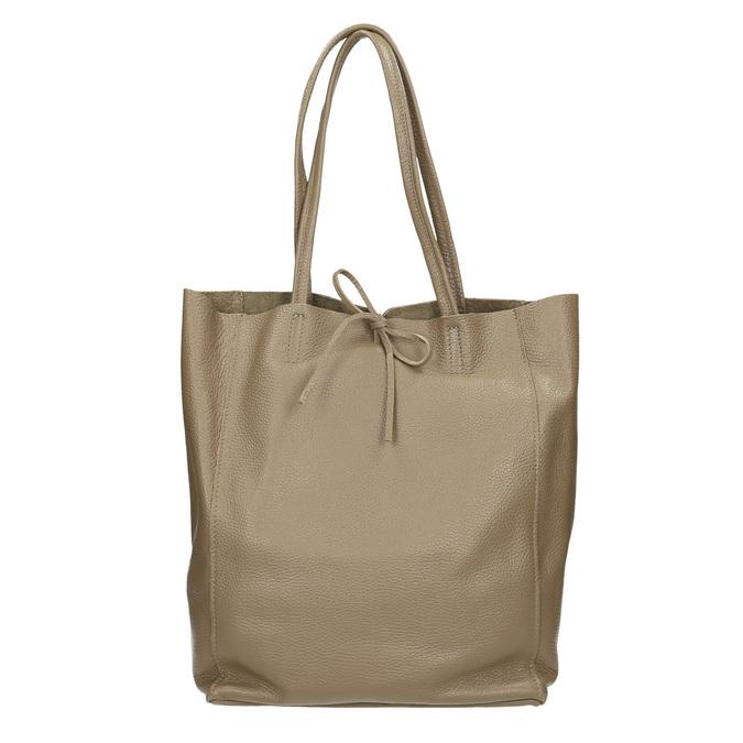 Dámská kožená kabelka s mašlí bata, hnědá, 964-2122 - 26