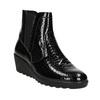 Kožená kotníčková obuv na klínku comfit, černá, 698-6600 - 13
