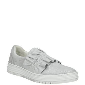 Dámská kožená Slip-on obuv bata, šedá, 516-1614 - 13