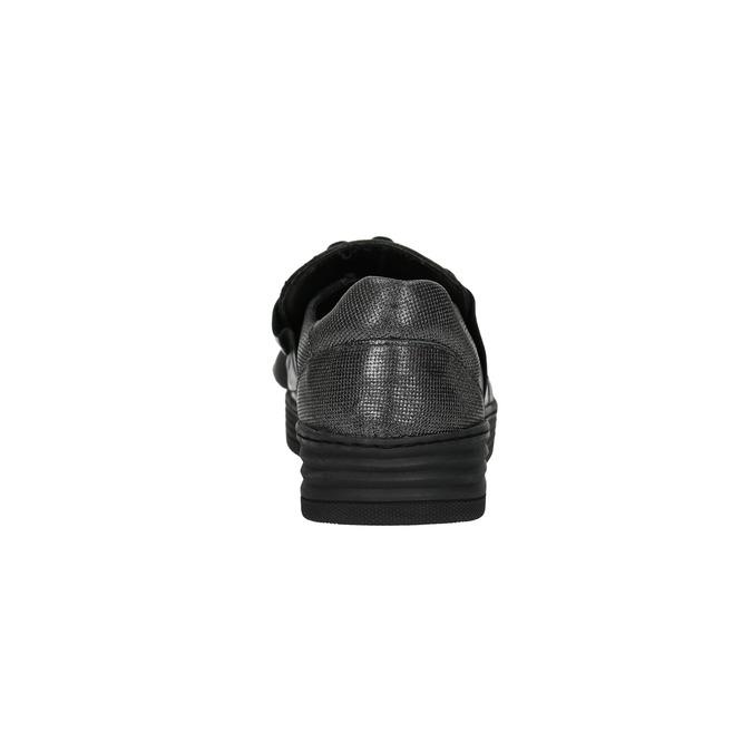 Dámské kožené Slip-on bata, černá, 516-6614 - 17