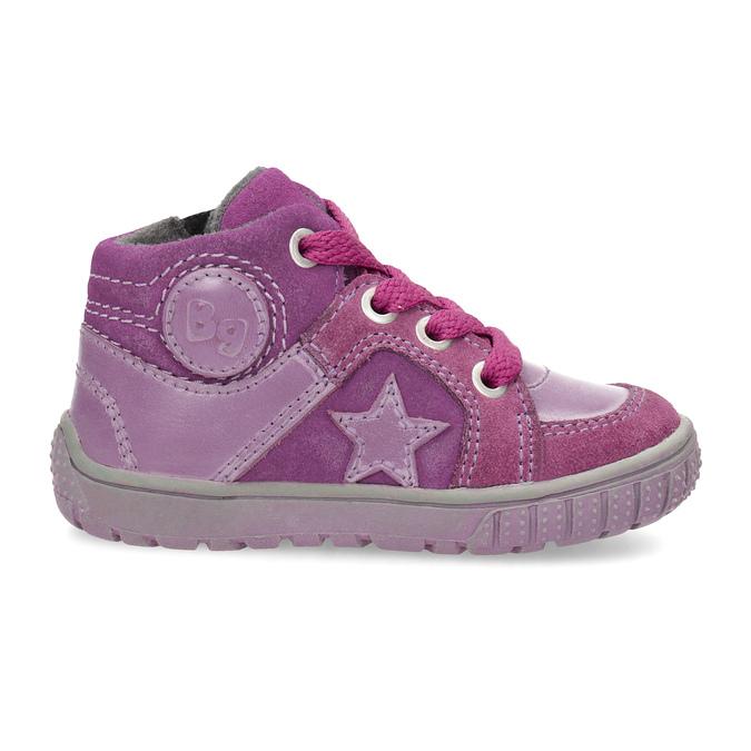 Dívčí kotníčková kožená obuv bubblegummers, růžová, 123-5601 - 19