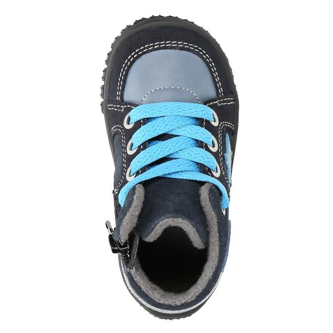 Kožené chlapecké tenisky bubblegummers, modrá, 113-9601 - 19