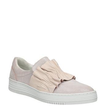 Kožené dámské Slip-on bata, růžová, 516-5614 - 13