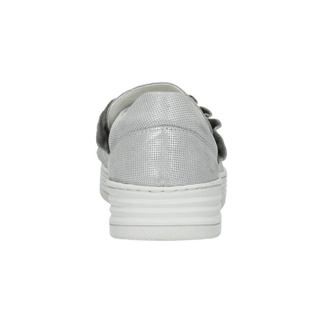 Dámská kožená Slip-on obuv bata, šedá, 516-1614 - 17