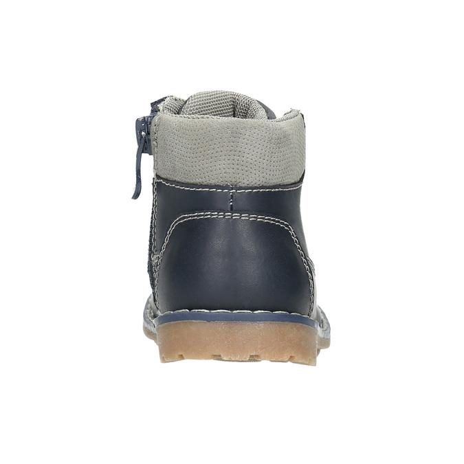 Kožená dětská obuv bubblegummers, modrá, 114-9610 - 17