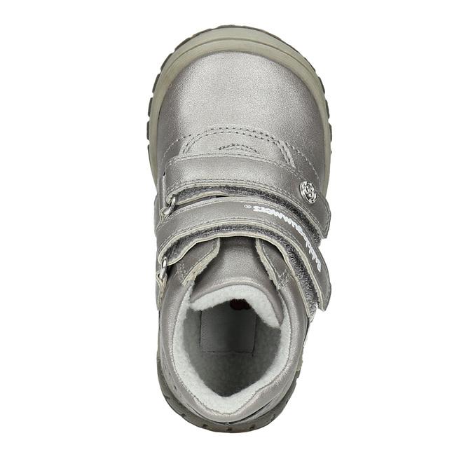 Dívčí kotníčková obuv s ozdobnou aplikací bubblegummers, stříbrná, 121-1622 - 19