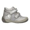 Dívčí kotníčková obuv s ozdobnou aplikací bubblegummers, stříbrná, 121-1622 - 15