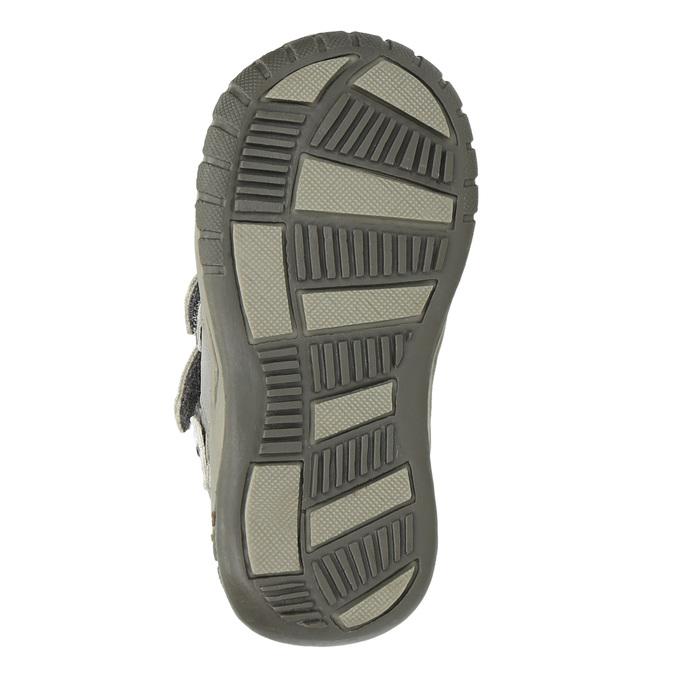 Dívčí kotníčková obuv s ozdobnou aplikací bubblegummers, stříbrná, 121-1622 - 26