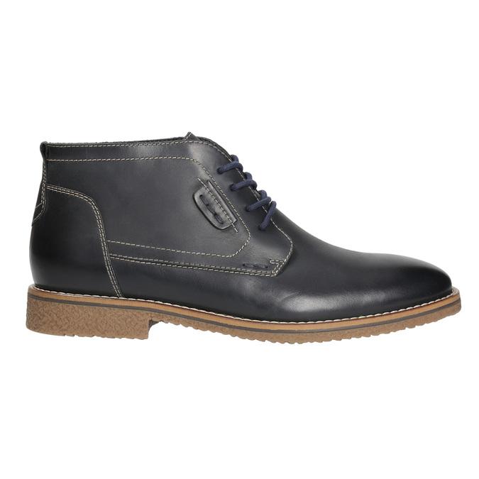 Pánská kotníčková obuv s prošitím bata, černá, 826-6614 - 15