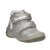 Dívčí kotníčková obuv s ozdobnou aplikací bubblegummers, stříbrná, 121-1622 - 13