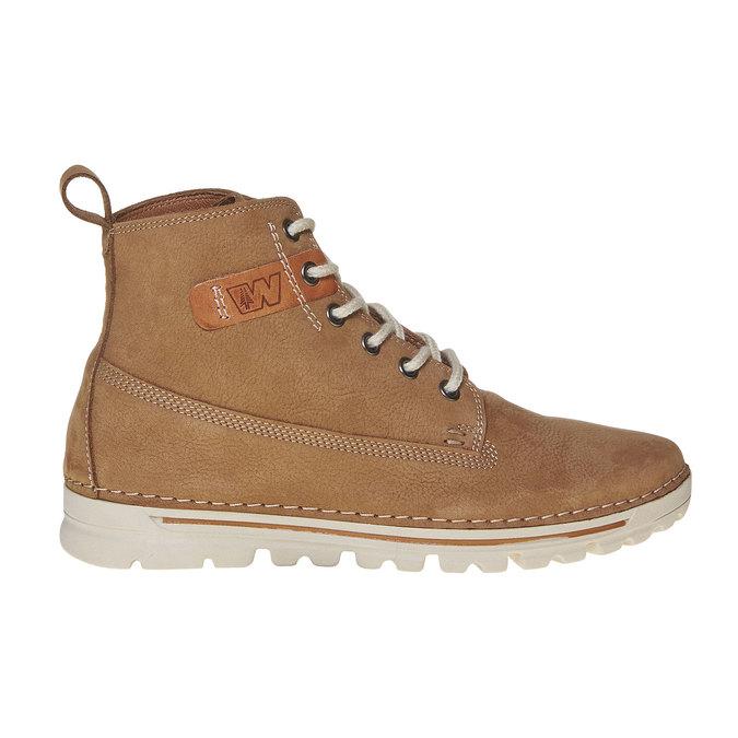 Dámská kožená kotníčková obuv weinbrenner, hnědá, 594-8323 - 15
