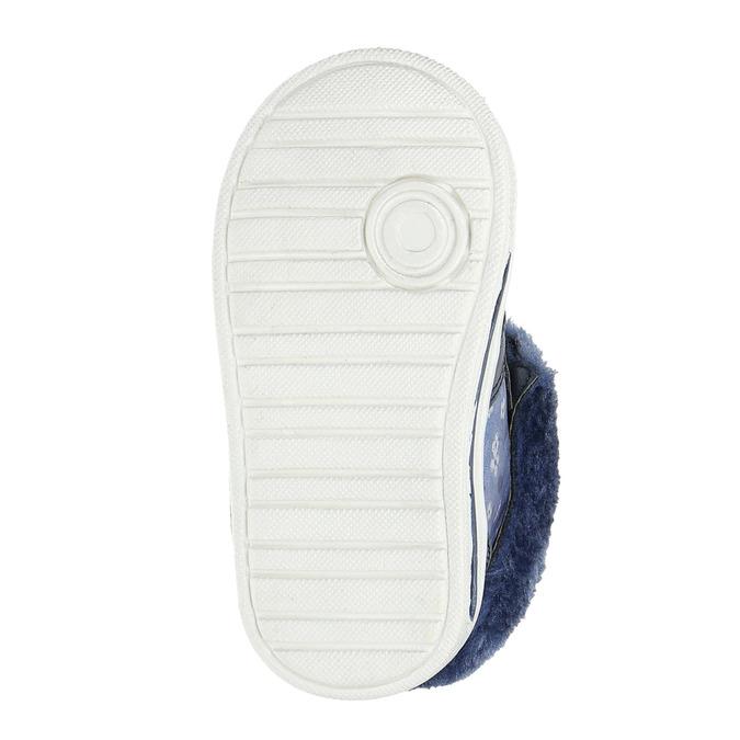 Dívčí obuv s kožešinou bubblegummers, modrá, 121-9621 - 26