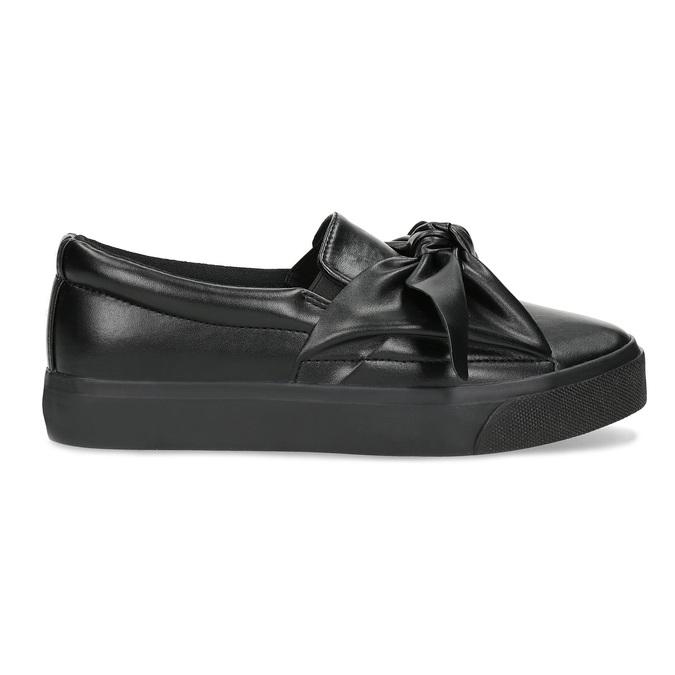 Černá dámská Slip-on obuv s mašlí north-star, černá, 511-6606 - 19