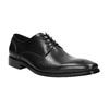 Černé kožené Derby polobotky bata, černá, 824-6405 - 13