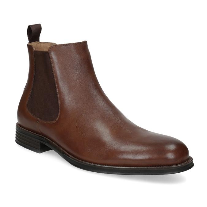 Hnědé kožené Chelsea Boots bata, hnědá, 896-3400 - 13
