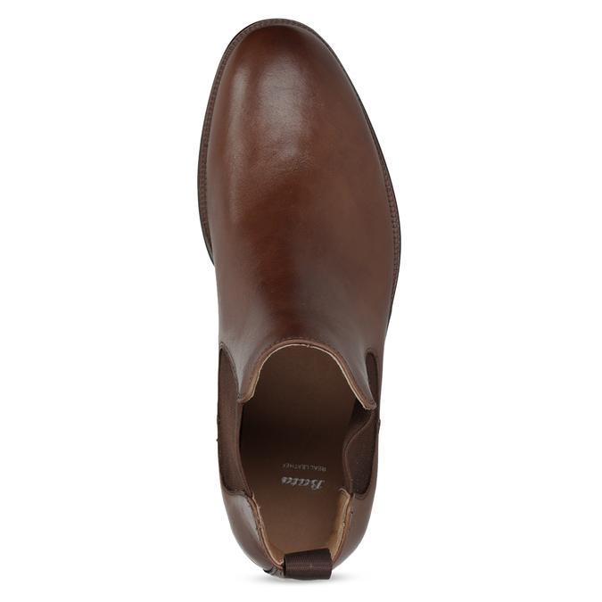 Hnědé kožené Chelsea Boots bata, hnědá, 896-3400 - 17