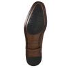 Kožené Oxford polobotky se zdobením bata, hnědá, 826-3690 - 19