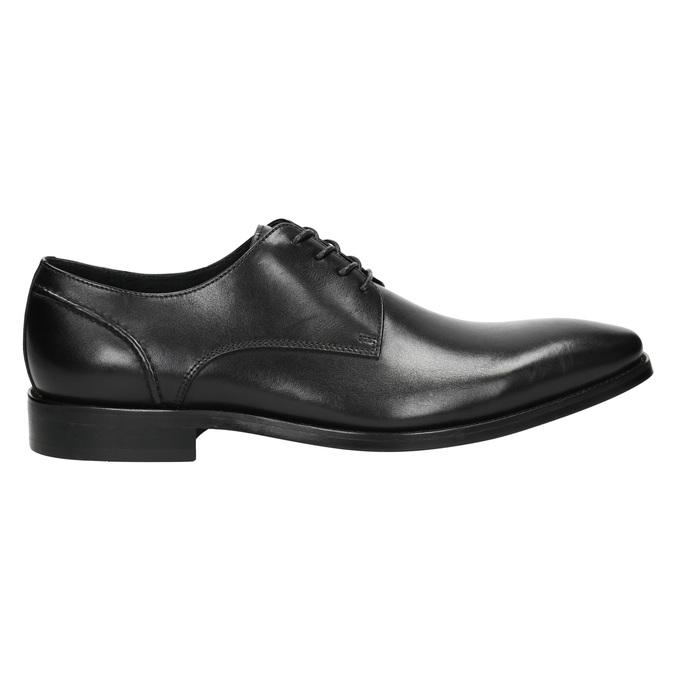 Černé kožené Derby polobotky bata, černá, 824-6405 - 15