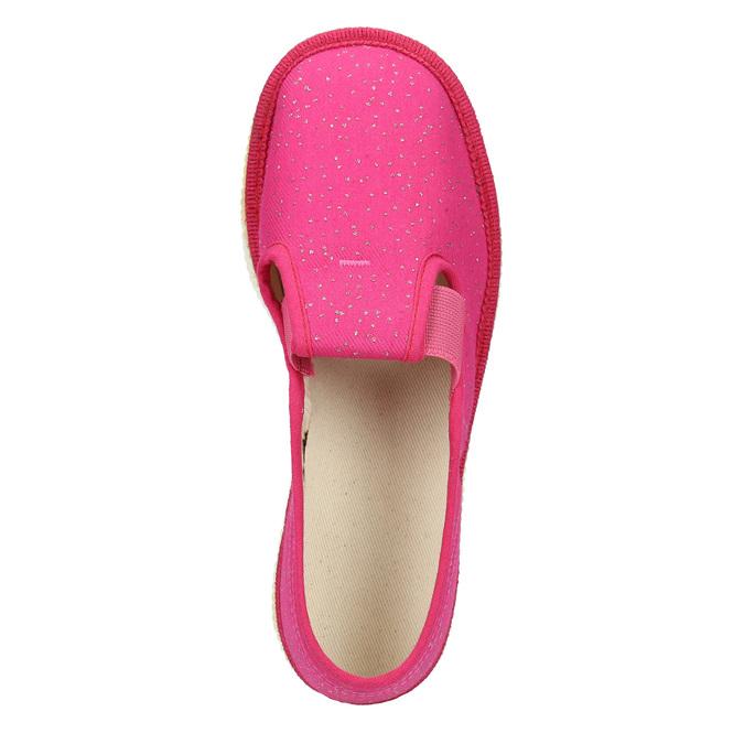 Růžové dětské přezůvky bata, růžová, 279-5121 - 15