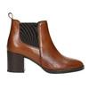 Kotníčková kožená obuv na podpatku bata, hnědá, 694-4641 - 15